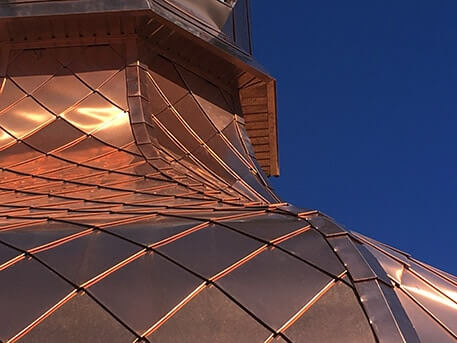 Copper Roof Cupola at St. Elias Ukrainian Catholic Church in Brampton